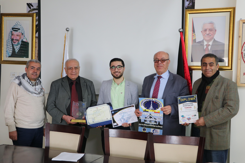 فلسطين تفوز بالمركز الأول عن فئة المخترع الأجبني في تونس