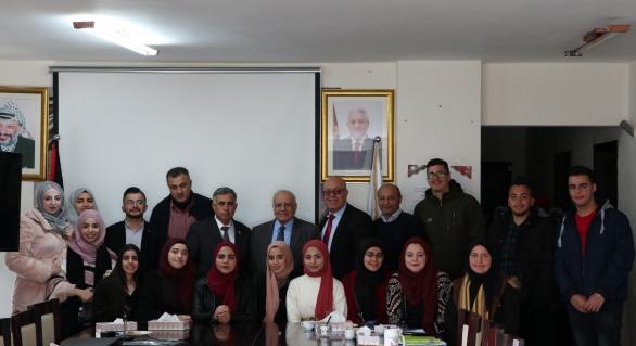 طلبة جامعة فلسطين التقنية/ خضوري يقدمون عروضًا لمشاريعهم في المجلس الأعلى للإبداع والتميز