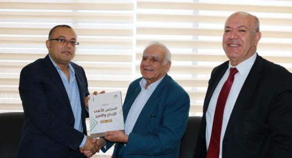 وفد من المجلس الأعلى للإبداع والتميز يزور وزير الثقافة